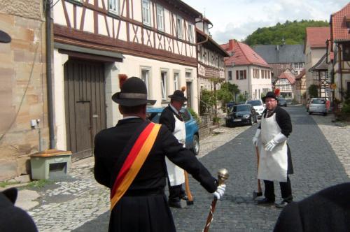 Aufstellung zum Himmelfahrtsauszug der Bürgerwehr 1848 Königsberg