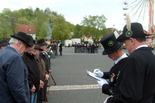 Anwesenheitslisten beim Himmelfahrtsauszug in Königsberg