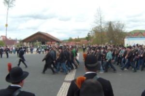 Parademarsch beim Himmelfahrtsauszug in Königsberg