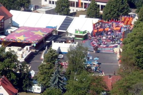 Der Festplatz des Königsberger Pfingstfests vom Schloßberg aus